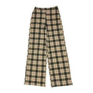 PRETTY LITTLE THING Wide Leg Plaid Pant